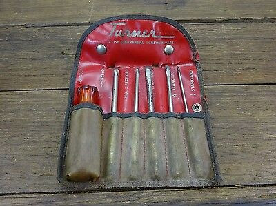 Vintage Turner Universal Screwdriver Set Australia Old Tool Phillips Flat Head