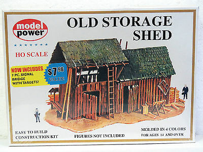 MODEL POWER HO scale model kit OLD STORAGE SHED #435 New in box