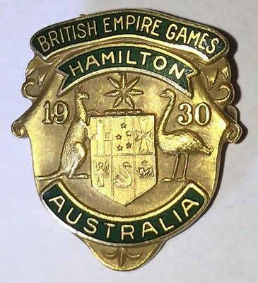 Australia - 1930 Empire Games Badge - Enamel. Made by K&B.