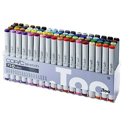 Brand New COPIC Sketch Markers 72 colours Set A