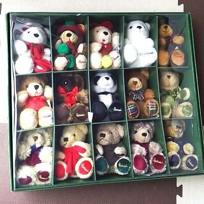 Harrods Teddy Bear Plush Doll 15 set Stuffed 1986-2000 Mascot Collection Auth