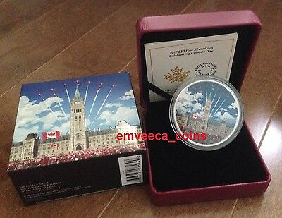 Celebrating CANADA Day 2017 Parliament Building Glow In The Dark 2oz Silver Coin