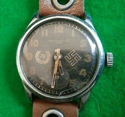 WW2 German 70th Infantry Division Army Record Wristwatch Super Rare!
