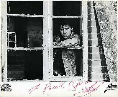 RARE SHAKIN STEVENS SHAKY 10x8 AUTOGRAPHED / SIGNED EPIC RECORDS PROMO B&W PHOTO