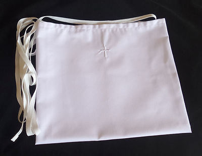 Amice with White Cross & Vestment Embroidery