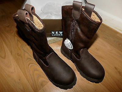 New In Box Kids Unisex Cowboy Style Leather Boots Size Au 11