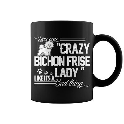 Crazy Bichon Frise  Lady Coffee Mug