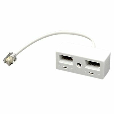 RJ11 Plug to Dual UK BT Telephone Socket Convertor Z1J9