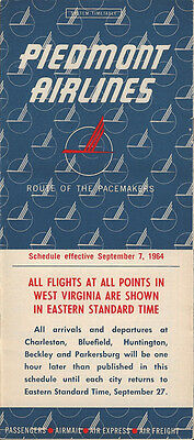 Piedmont Airlines system timetable 9/7/64 [4102]