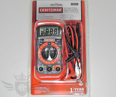 New Craftsman 8 Function Digital Multimeter with 20 Ranges - 34-82141