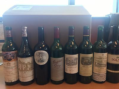 Lot Of Empty wine bottles: Mouton Rothschild, Haut Brion, Harlan, Grange, Lafite