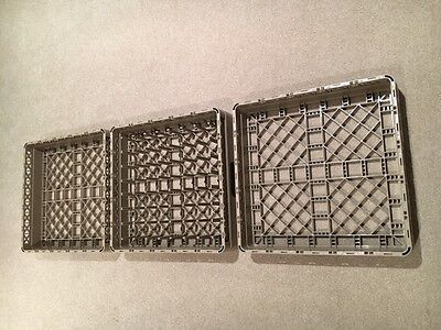 Three Commercial Dishwasher Racks 500x500mm