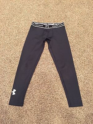Boys UNDER ARMOUR Fitted Baselayer/Compression Pants~Black~Size YLG