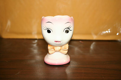 PRETTY PINK LADY EGG CUP Lefton ?