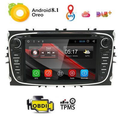 """7"""" 2 Din Android 6.0 Car DVD GPS Navi BT For Ford Mondeo Focus S-Max 2007-2011~"""