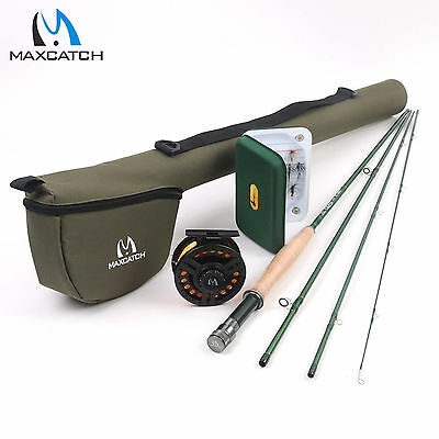 Maxcatch 5WT Fly Fishing Combo 9FT Fly Rod, 5/6WT Fly Reel, Fly Line, Box, Flies