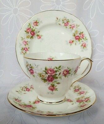 Vintage Duchess June Bouquet Roses Tea Cup and Saucer Tea cup trio England