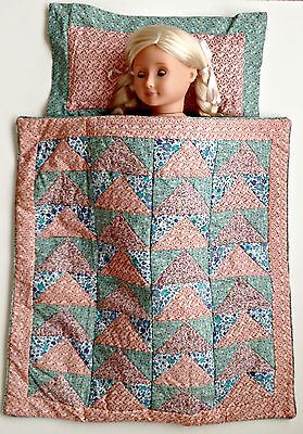 American Girl, Our Generation, Journey Girl - Doll's Patchwork Quilt & Pillow