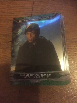 Lot Of 17 Topps Star Wars Chrome Perspective Jedi Vs Sith Trading Cards