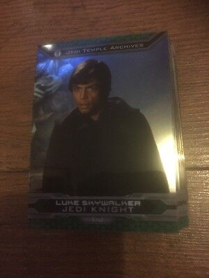 Lot Of 35 Topps Star Wars Chrome Perspective Jedi Vs Sith Trading Cards