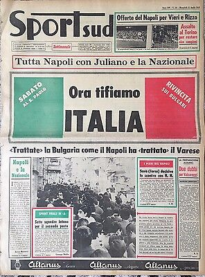 1968 EURO 1/4 FINAL Italy v Bulgaria in Naples (Sport-Sud Napoli)