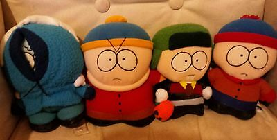 Set of 4 South Park Plush Soft Toys Limited Edition ice Kenny, Kyle Cartman