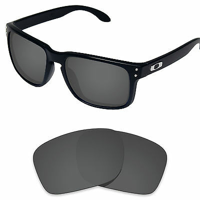 Carbon Black Polarized Replacement Lenses for-Oakley Holbrook Sunglass Frame