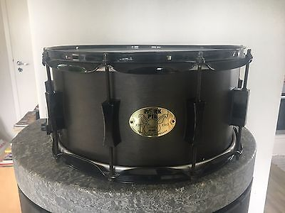 Pork Pie DEEP 14 x 7 ALL Black - all maple snare - EXTREMELY RARE