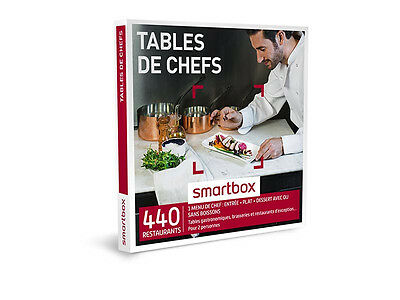 e-Coffret Smartbox  Tables de chefs  Valeur 99,90 €
