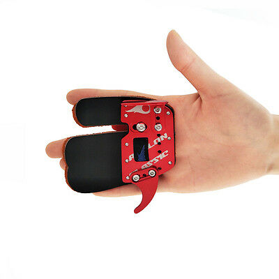 Leather Archery Protective Finger Tab Shooting Advanced Finger Guard Right Hand