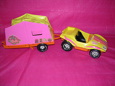 Vintage  Barbie Dune Buggy & Pop Up Camper 1972