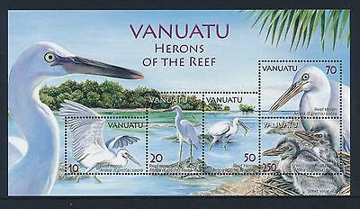 2007 Vanuatu Herons Of The Reef Minisheet Fine Mint Mnh/muh