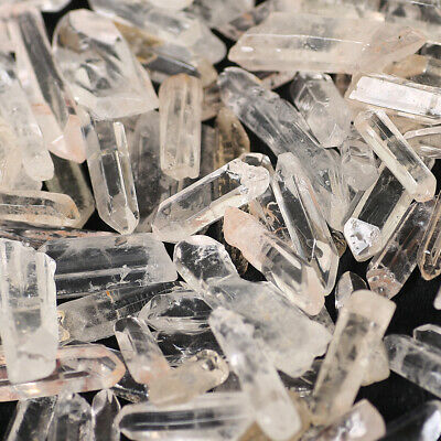 Wholesale 200g Bulk Small Points Clear Quartz Crystal Healing Reiki Mineral Wand