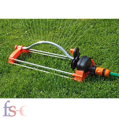Oscillating Lawn Sprinkler Watering Garden Pipe Tube Water Flow with Connector
