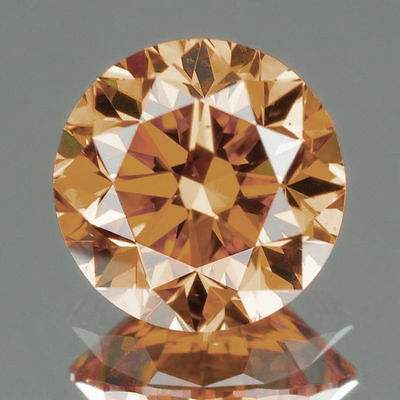 CERTIFIED .081 cts. Round Cut Champagne Color SI Loose Real/Natural Diamond M418