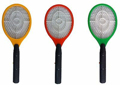 Tennis Racquet Shaped Bug Zapper Electric Mosquito, Fly & Wasp Swatter - New