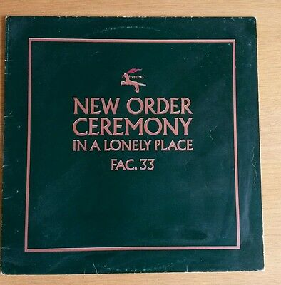 """New Order - Ceremony / In a Lonely place 12"""" orig green label 1st press A1 B1"""