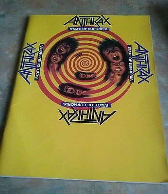 Anthrax, State of Euphoria, 1989 song sheets in book 🎵🎸🎵🎸Heavy Metal