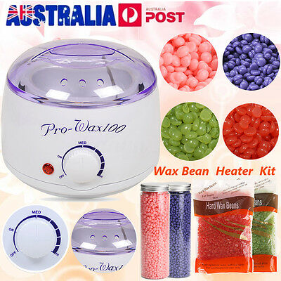 Pro 400g Wax Heater Kit Pot Salon Waxing Hair Removal Warmer Hot Wax Bean AU