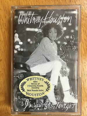 WHITNEY HOUSTON   - I'M YOUR BABY TONIGHT - ( Cassette Tape ALBUM )