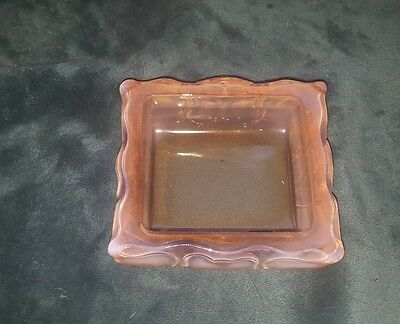 Vintage Fenton glass Peaches and Cream rectangle bowl..HEAVY