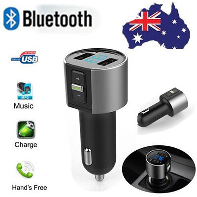 Handsfree Bluetooth Wireless Car Kit FM Transmitter Radio MP3 Player USB Charger