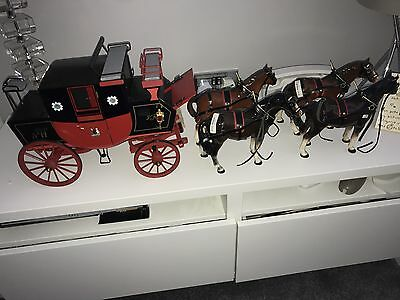 Melba Ware Horse And Carriage Set Collectors Item