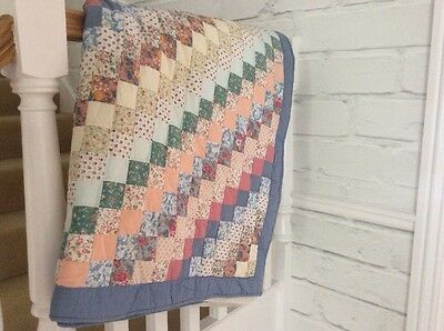 Beautiful patchwork throw/blanket - fabulous condition (King-size)