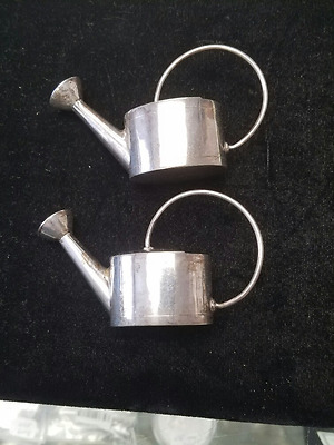 Water Sprinkling Cans Salt & Pepper Shakers 45.6 Grams Sterling Silver Mexico