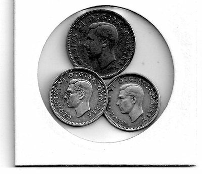 george vi threepence and sixpence