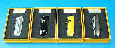 COHIBA Stainless Steel 3 Torch Jet Flame Cigar Lighter With Cigar Punch  02-528