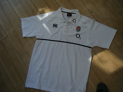 England Rugby polo shirt Large,men's.Canterbury.