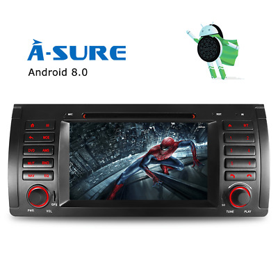 7'' Android 7.1 Car DVD Player sat nav GPS FOR BMW 5 series  E39 X5 E53  DAB+