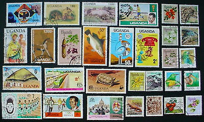 Uganda: Collection Of 30 Used Stamps:  Lot 1